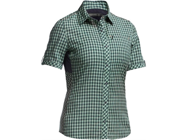 Icebreaker Terra SS Plaid Dame panther/panther